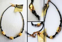 "Handmade jewel: Unique Choker-necklace / Handmade jewel - a Unique Necklace  - Vintage gold-plated elements (24 carat)  - Black Crystal beads  - Excellent Gift made to order, comes in a perfect rapping   Length: approx. 43cm / 16.92"" • Choker style gives very classic as well as versatile look and falls perfectly around the base of the neck. • Chokers look beautiful on all types of outfit.   Item code: EM180516/14 Price: € 49 (free shipping in Greece) Designer: Ergo Mirabilis, handmade in Greece"
