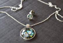 Ékszerek/Jewelry / üvegékszer, cabochon