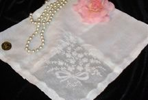 Embroidered Ladies Handkerchiefs Hankies / Beautiful Embroidered ladies handkerchiefs from Nanalulus Linens and Handkerchiefs Vintage and New From The USA, Switzerland, Portugal, Spain & More