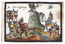 """History of Mexico"""" by Juan de Tovar postcards / 17th Century Juan de Tovar, also known as the """"Mexican Ciceron"""", was the son of a Spaniard conqueror, arrived to Americas with the expedition of Pánfilo de Narvaez to explore and conquer the territories of gulf of Mexico, taking lands between actual Tampa (Florida) to Mississippi river for Carlos V of Spain."""