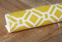 Yellow Geometric Fabric / by Kendra Carney