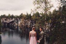 Marble Canyon Ruskeala / 4 сентября наша команда организовала свадебный воркшоп в Карелии в горном каньоне