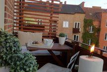 bonito diseño de decoración de terraza