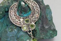 Chrysocolla, Malachite / #Chrysocolla #Gemstone #Jewelry  http://www.andreajayecollection.com/collections/chrysocolla #Malachite #Gemstones #Minerals
