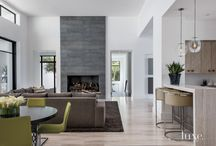 Elegant family room and kitchen