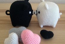 Crocheted piggy  / Small piggy for key chains