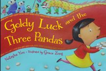 GOLDY LUCK AND THE THREE PANDAS / Due out from Charlesbridge Publishing on Jan. 7, 2014  One Chinese New Year, Goldy Luck's mother asks her to take a plate of turnip cakes to the neighbors. The Chans aren't home, but that doesn't stop Goldy. She tries out their rice porridge, their chairs, and their beds—with disastrous results. What an unlucky way to start the year!   Goldy Luck and the Three Pandas is a multicultural retelling of the Goldilocks and the Three Bears tale.