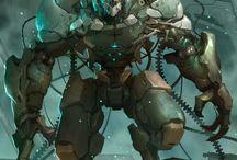 Concept Art III / Sci-Fi, Futuristic, Robot, Mech Suit