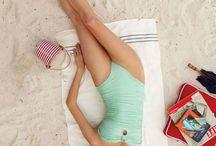 retro beach shoot