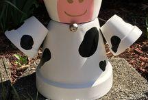 personnage en pot de terre