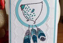 Mes cartes Petites poules / Cartes réalisées avec les tampons STAMPIN UP