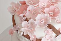 Kirschblütenmuster Kuchen