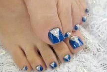 Blue Nailart Toes to try...