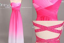 Hot Pink Long Gown