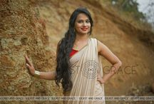 Daydream Saree in Cream Silk Chiffon and Cutdana Embroidery / PRICE INR 10,642.00; US$ 161.24 To buy click here https://goo.gl/gq8bNV Featuring the Daydream saree in rich cream, 100% flat, pure silk chiffon with pinstripe style, antique gold cutdana rows that combine old-time charm with feminine flair, embroidered all over the pallu. Intricate cutdana leaves are embroidered at the bottom with flattering detail. The accompanying maroon blouse has a tie-back with gold latkan. Reach us at care@eastandgrace.com. With Love, EAST & GRACE www.eastandgrace.com
