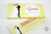 Chocolat Wedding Invitation / Chocolat Wedding invitation / Convite de Casamento Tablete de chocolate