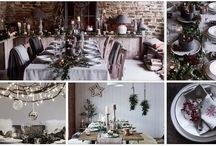 Christmas Tablescapes / Magical Christmas wonderland tablescapes. How to do it https://www.holloways.co.uk/news/interiors/the-magic-of-the-christmas-table
