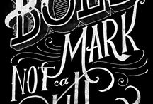 CHALKBOARD TYPE LOCKUPS / Type lockups graphic design, typography