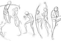 ART позы / Когда не знаешь, в какой позе нарисовать персонажа.