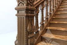 """CARVED WOODEN STAIRS / РЕЗНЫЕ ЛЕСТНИЦЫ / Design projects and photos of carved stairs from the company """"Stavros"""". Дизайн-проекты и фотографии резных лестниц от компании """"Ставрос""""."""