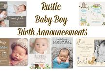 Rustic Baby Birth Announcements / The best birth announcements that are rustic and country in nature.
