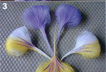 Vilten bloemen/natuur