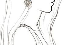 Karakalem Kız çizimi