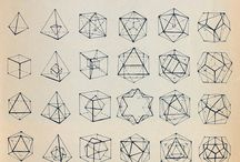Tatuaje / Dibujo geométrico / Tatuaje / Dibujo geométrico