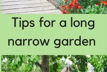 Narrow town gardens / Narrow garden ideas, narrow garden design, long thin garden ideas, long thin garden tips, designs for long thin gardens