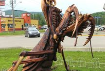 Chainsaw Carvings / by Julie Bell