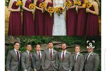 Burgundy and Grey Wedding