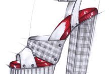 Shoe fashion sketches / The designer's sketch is sometimes more stylish than the finished product!