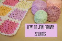 Como unir cuadrados a crochet