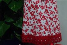 sin primavera....pero con cerezas / vestido con braguita y diadema