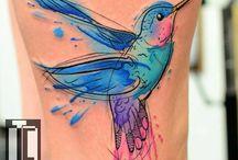 tatuaje de colibri