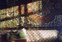 persian rug wall