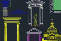 Classical architecture symbols / A collection of classical architecture and Roman architecture symbols.