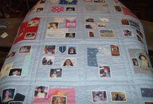 Kilt de cama / Colchas para cama de jovens com fotos da vida deles