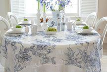manteles y carpetas de té