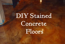 Stain Concrete Floors / stained concrete floors