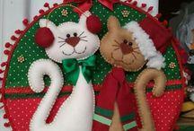 hermosos gatitos navideño