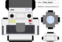 camera, aparat pudełka/kartki