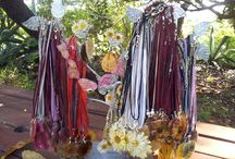 Botanical Jewellery / Botanical jewellery - beautiful necklaces made from dry flowers sealed in resin.