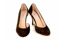Wide fit Black Suede stiletto / Wide fit high heeled court shoe. Handmade in England. www.sargassoshoes.com