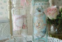 bottigliette vasetti decorati