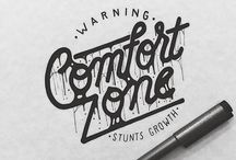 Hand Lettering, Fonts & Typography / Amazing hand lettering styles; a curated collection of typographic inspiration