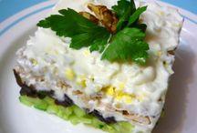 Салаты / Разнообразные мясные, овощные, диетические салаты для праздничного стола и на каждый день