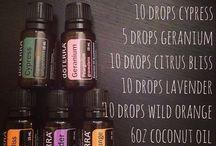Essential oils and cristals