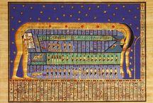 ANTIQUE EGYPTE PAPYRUS / ♥ ♥ ♥  Personnellement, les plus beaux Papyrus Illustrés que j'ai vus sur le Net - Originaux (en Musées) ou Reproduction d'après originaux (Sans Contrefaçons, [actuels mais style antique], du moins, j'espère). Merci de m'en informer.