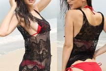 Cover Ups / Don't want be exposed on beach with bikinis? The cover ups will help you. Here we have crochet covers ups, lace cover ups and chiffons, get the one you like.